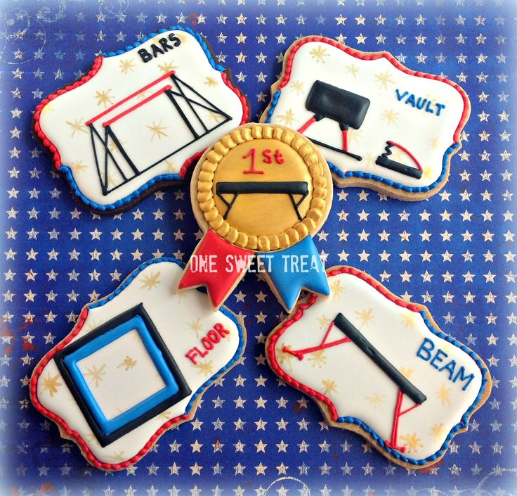 Gymnastics apparatus sugar cookies.  #gymnastics