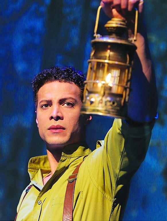 Justin Guarini as Fiyero in Wicked - Leather suspenders are my new favorite thing!