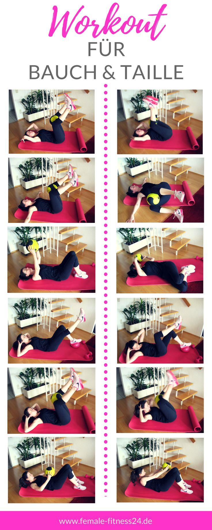 ▷ Workout für Bauch & Taille mit Hilfe eines Medizinballs bzw. Pilates-Ball