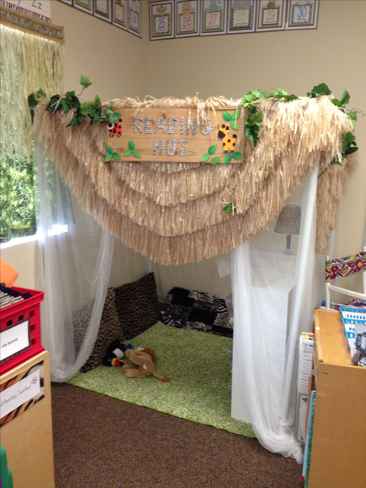 the reading hut in my safari classroom!