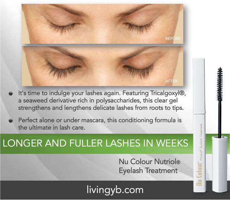 Are your thinning and lackluster eyelashes bringing you down? Don't fret, fuller lashes are just a stroke a way!  Introducing Nu Colour Nutriol Eyelash Treatment. Featuring Tricalgoxyl®, a seaweed derivative rich in polysaccharides, this clear gel strengthens and lengthens delicate lashes from roots to tips. Perfect alone or under mascara, this conditioning formula is the ultimate in lash care.