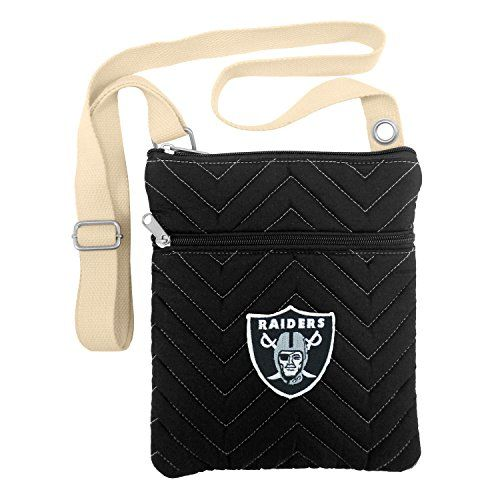 NFL Oakland Raiders ChevStitch Cross Body Purse * To view further for this item, visit the image link.