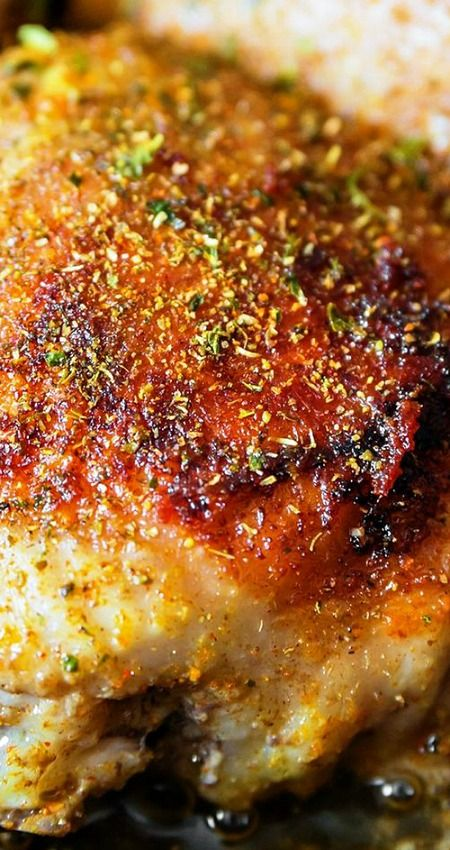 Easy Garlic Broiled Chicken Recipe ~ Boneless chicken thighs with a tasty butter, garlic, soy sauce, black pepper, and parsley sauce. Low carb with paleo friendly options