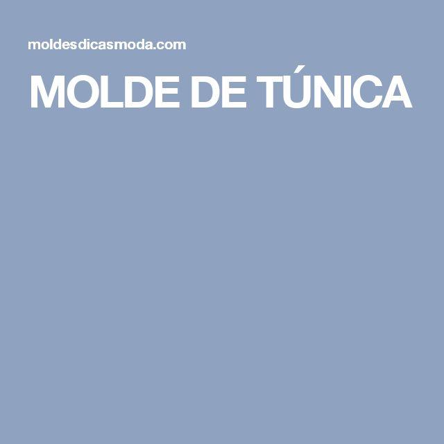 MOLDE DE TÚNICA