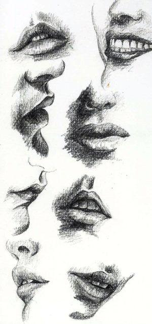 Ağız çizimi (Karakalem) - Hanimefendi.com - Kadın sitesi