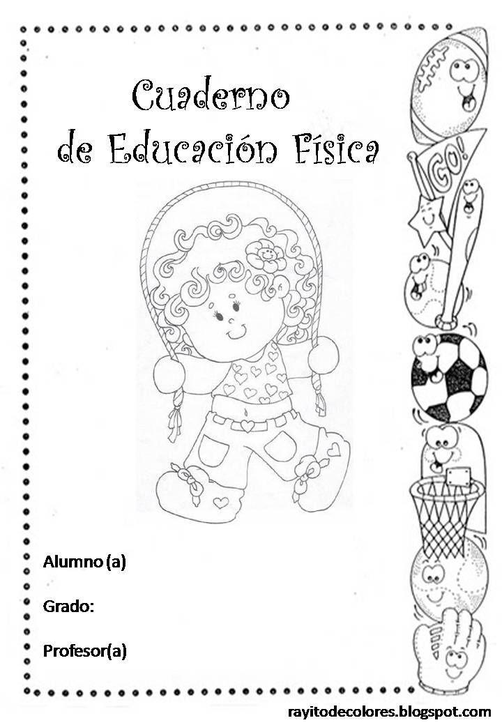 Carátula para cuaderno de educación física | Caratulas escolares ...