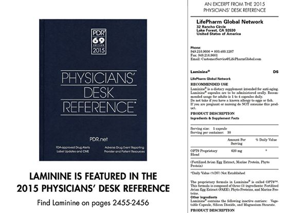 The 2015 Physicians' Desk Reference (PDR) is here! Print out the excerpt on Laminine and bring it to your next doctor's appointment: http://bit.ly/1v73O4Z  http://eggoflife.com/nika19/