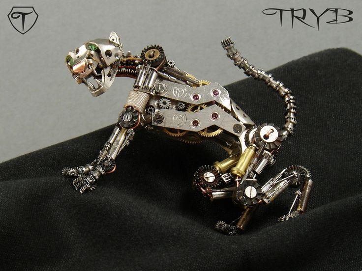 Work in progress - mechanical cat will be part of entire scene - soon :) #mech #mechanical #cat #steampunk #miniature #tryb #jewelry