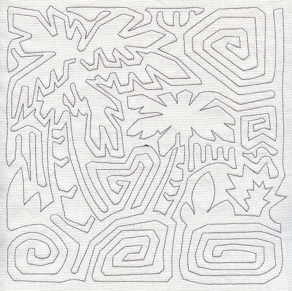 Mola Pixbae Tree Quilting Square (Single Run)