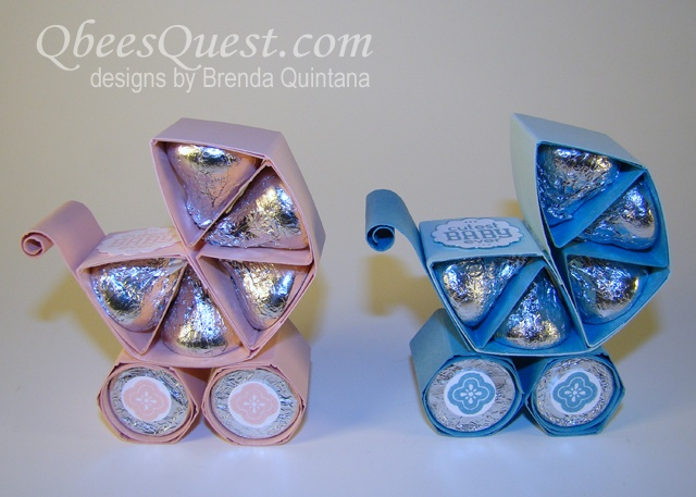 BABY SHOWER~Hershey's creation for you: a baby carriage.  http://qbeesquest.blogspot.com/