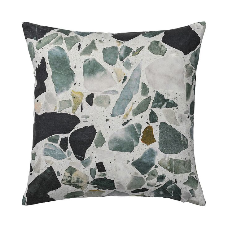 Discover the Bloomingville Terazzo Cushion - Dark Grey at Amara