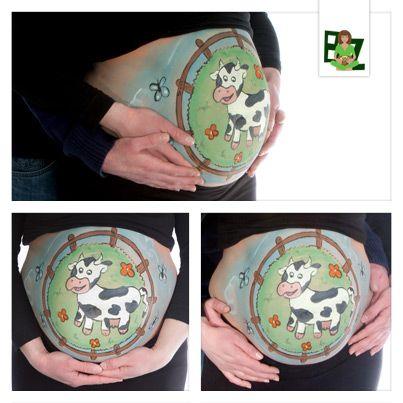 Ben jij op zoek naar een creatieve herinnering aan jouw zwangerschapsperiode? Buikschildering Zeeland creëert een bellypaintings bij toekomstige moeders.  #bellypaint #bighumppaint #buikschildering #cow #farm