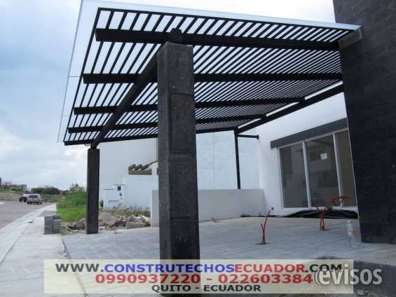 Techos para garajes con policarbonato o vrio pergolas de madera pergolas pinterest - Techos pergolas ...