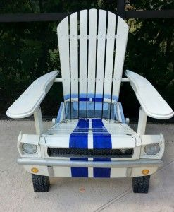 Adirondack Car Chairs - SO VERY COOL