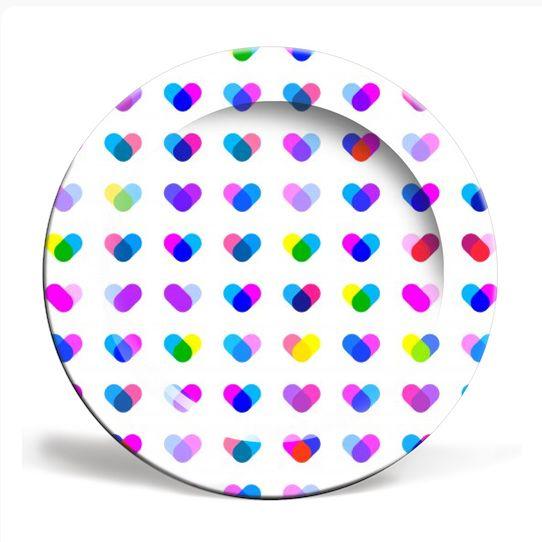Multi Hearts plate   #fimbis #ArtRookie #hearts #colourful #valentines #style #styleblog #fashion #fashionblogger #fashionblog #styleblogger #cyan #plate #magenta #valentinesday #cyan #foodplate #ukdesign #irishdesign #irishart #fblogger #kitchen #home #ceramic #purple