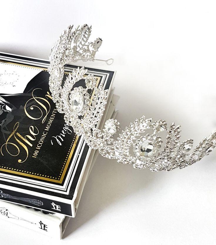 MARIE baroque silver tiara