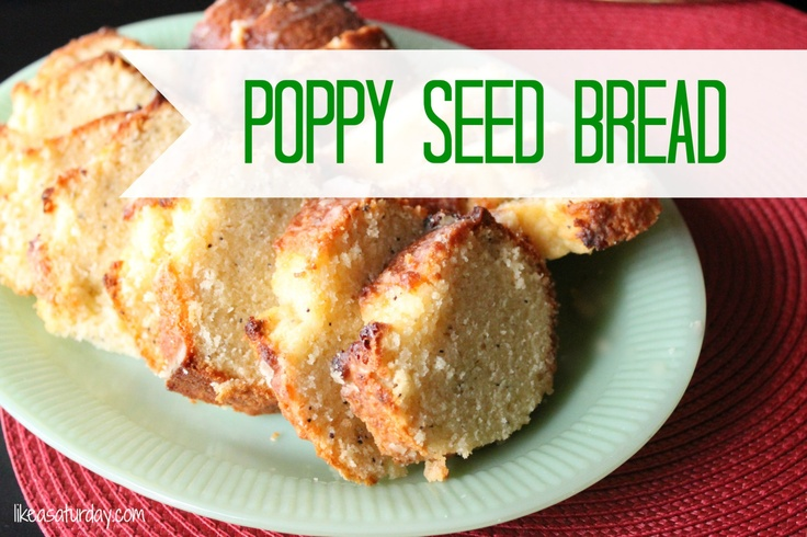 Christmas Recipe : Poppy Seed Bread
