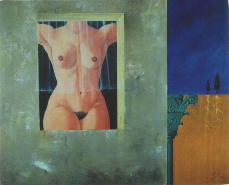 Inspiração Daliniana com árvores do Botas  -  Óleo sobre tela     50x61    2000