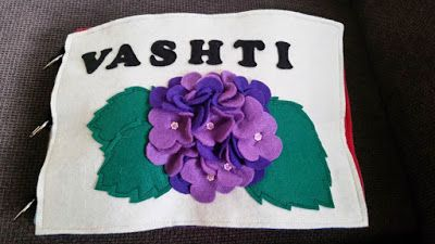 Faith and Felt Obsession: Vashti's Quiet Book - Front Cover and Crown Pages
