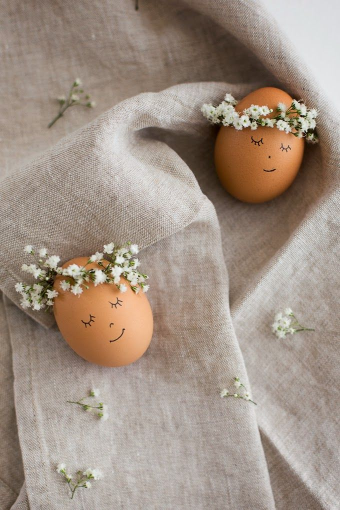 Floral Wreath Crowned Easter Eggs