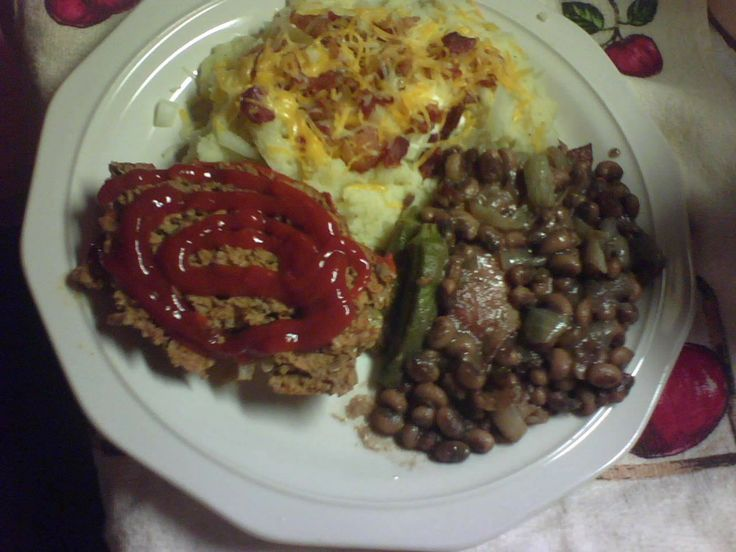 meatloaf recipe images | Meatloaf, Southern Black Eyed Peas and Loaded Garlic Mashed Potatoes