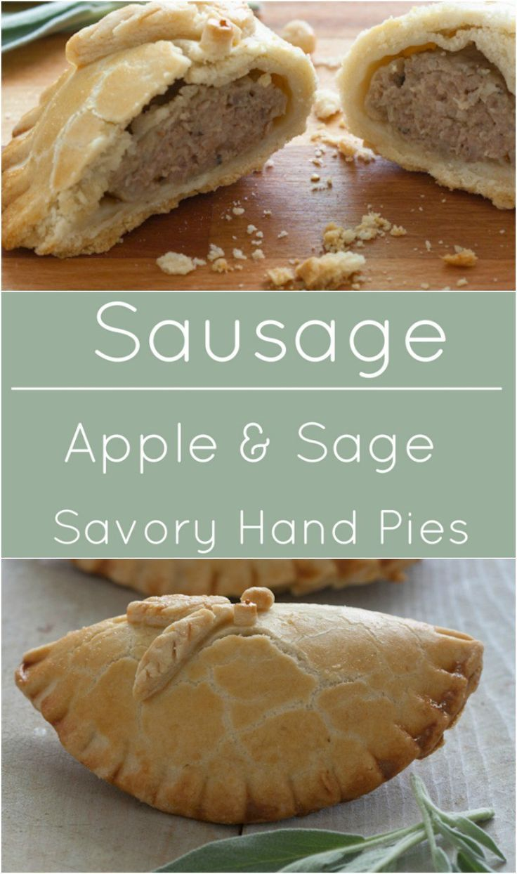 Savory Sausage, Apple and Sage Hand Pies. Perfect for tailgates and picnics!