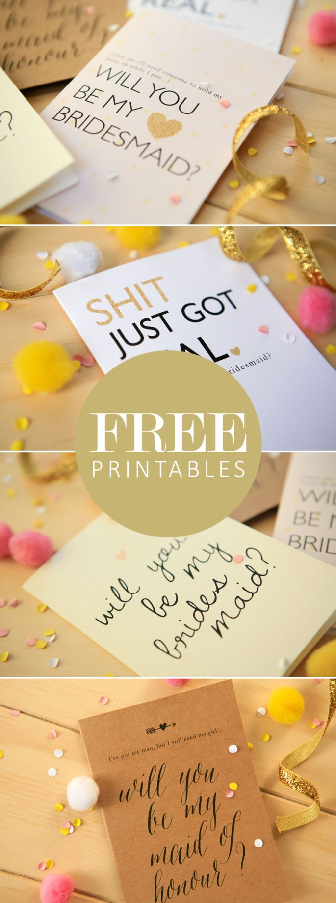 FREE Will You Be My Bridesmaid Printables Exclusive to P&L!
