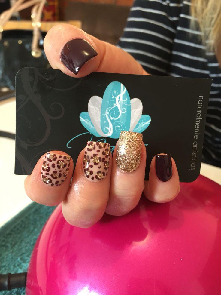 Acrylic nails, nails art, autumn nails