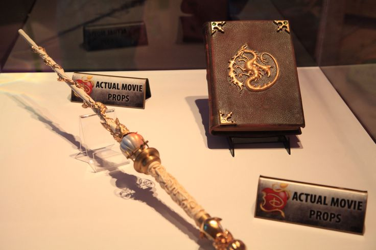 The Fairy Godmother's Magic Wand and Maleficent & Mal's Spell-Book props from Disney's Descendants