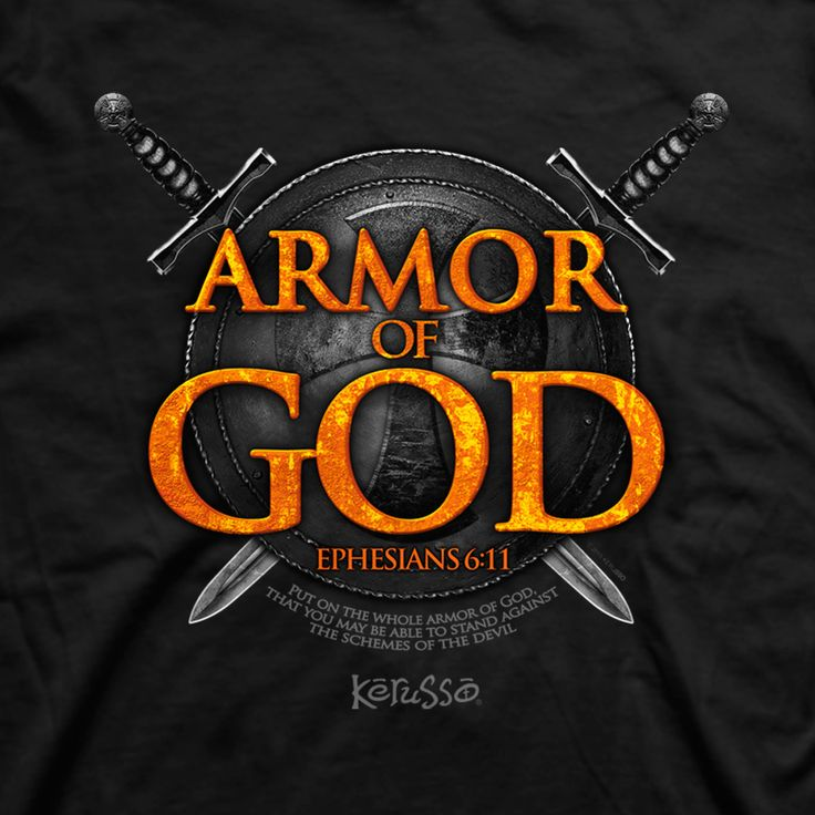 Never let your guard down. Be prepared for any spiritual battle that comes your way by putting on the full armor of God. Share this powerful truth from Ephesians 6:11 with this bold Christian tee.