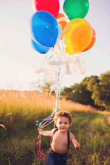 Toddler boy 2 year old photos balloon photography outdoor photo shoot