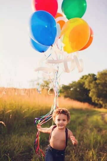 Toddler boy 2 year old photos balloon photography outdoor photo shoot