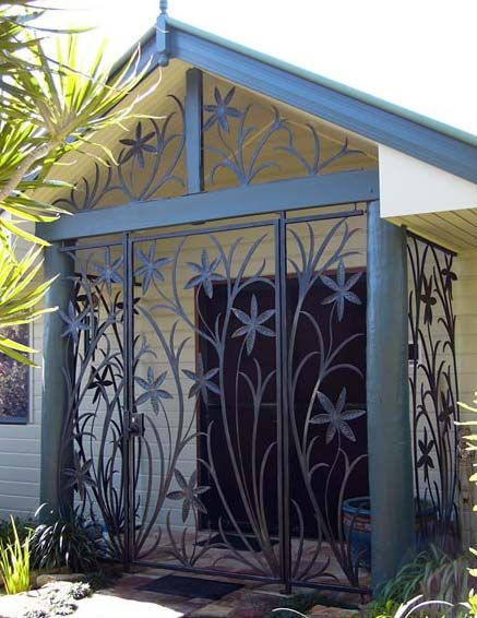 Wrought Iron security entry for front door. - Brisbane Wrought Iron