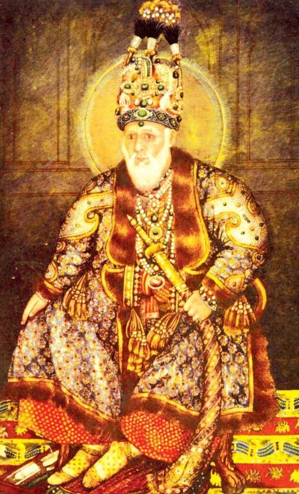 emperor-akbar-ii-portrait-inside-darbar-mughal-art-delhi