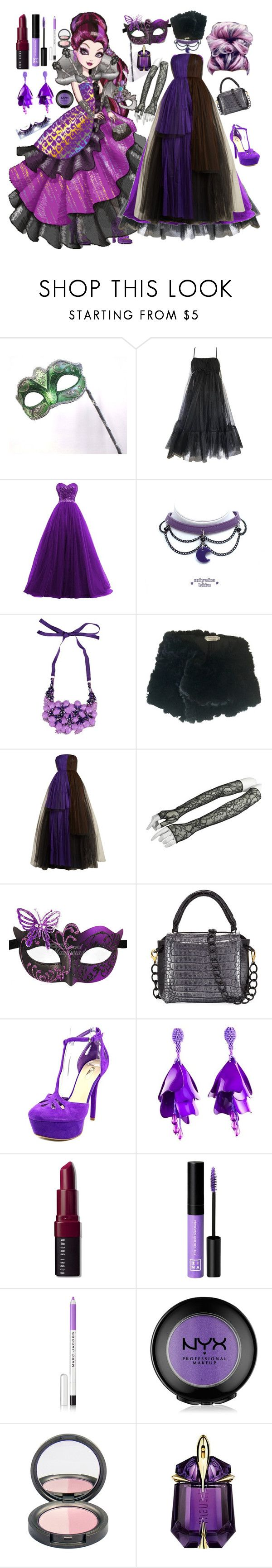 """Raven Queen-Thronecoming"" by fandom-girl365790 ❤ liked on Polyvore featuring Masquerade, Suzy Perette, Alberta Ferretti, Marina Rinaldi, Delpozo, GUESS, Oscar de la Renta, Bobbi Brown Cosmetics, 3ina and Marc Jacobs"