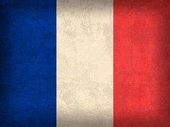 France Flag Art - France Flag Distressed Vintage Finish by Design Turnpike
