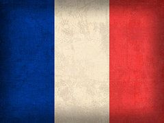 France Flag Art - France Flag Distressed Vintage Finish by Design Turnpike