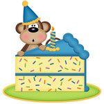 birthday monkey with cake