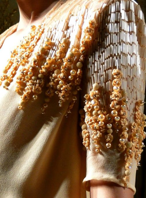 The bead embroidery on a Georges Hobeika dress.