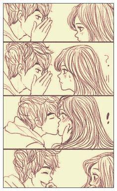 cute couple sketch