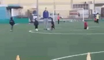 New party member! Tags: football fail soccer kids ouch tackle foul defender wait for it slide tackle born defender slidetackle