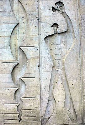Marseille,Le Corbusier, Le Modulor, Cité Radieuse, 1952,
