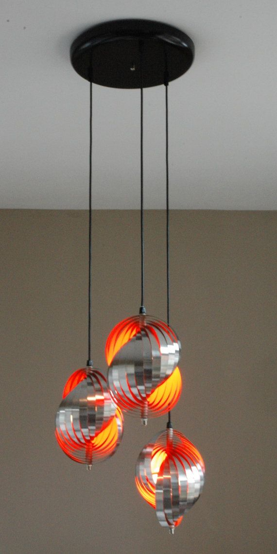 Space Age design Cascading Lamp by HENRI MATHIEU Mid Century 60ies 70ies