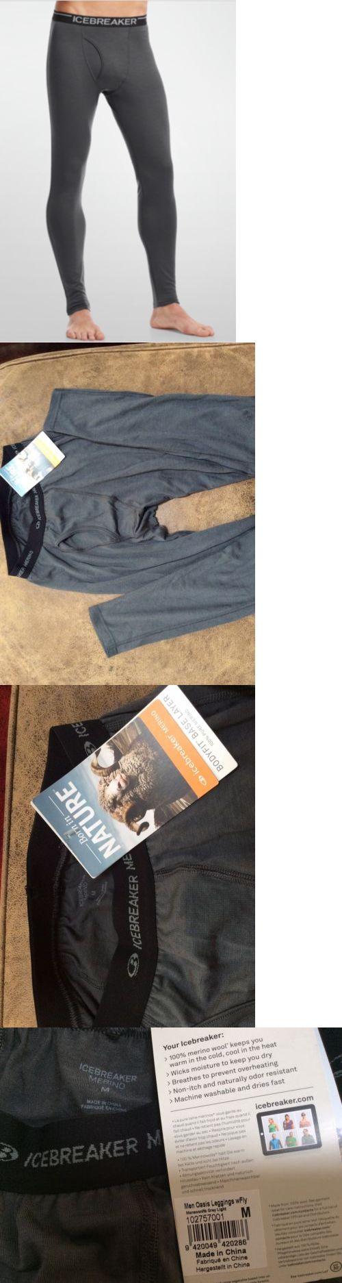 Base Layers 62171: Nwt, Men S Icebreaker Merino Wool, Oasis Leggings With Fly, Sz Medium, Grey -> BUY IT NOW ONLY: $45.99 on eBay!
