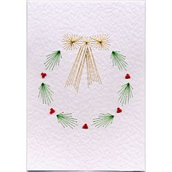 Free Holly Wreath prick and stitch e-pattern