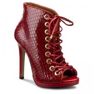 Pantofi cu toc subțire KAZAR - Fenicia 20901-08-04 Roșu