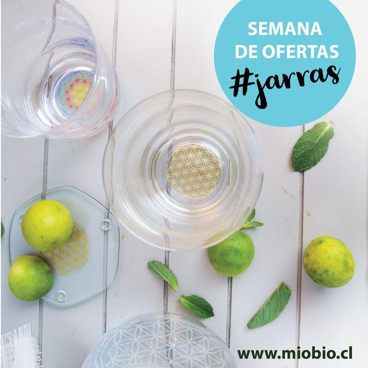 Vaso Jasmina Golden y Vaso Jasmina Happy aumentan el valor biologico y mejor el sabor del agua.
