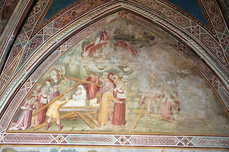 Cenni di francesco, cappella della croce di giorno, 1410, elena prova la croce con miracoli.JPG