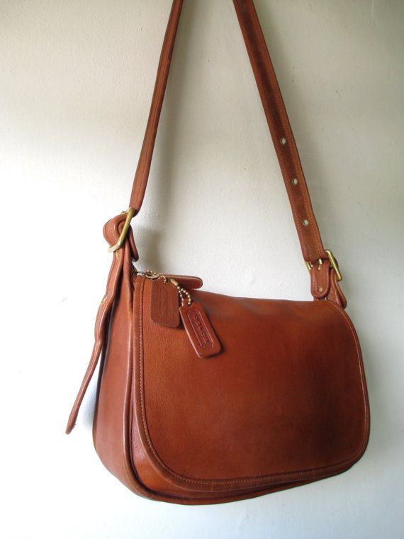 Vintage Coach Patricia Leather Cross-Body Saddle Bag by FeelsFree