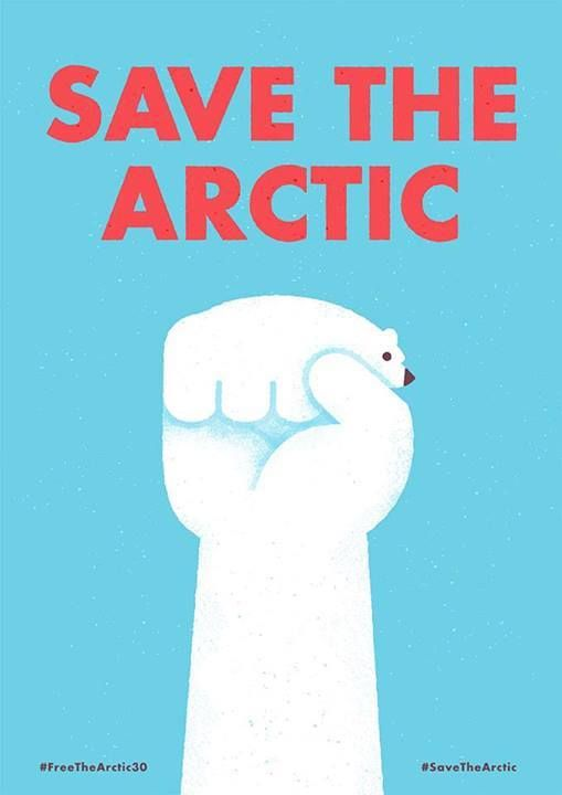 Huge thanks to Mauro Gatti, illustrator and designer, who created this piece to #FreeTheArctic30.  28 activists and two journalists have spent 56 days in jail for bearing witness to Arctic destruction. Sign to help free those who took action to defend the Arctic:  www.greenpeace.org/freethearctic30